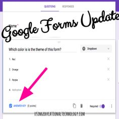 "NEW ""Quiz"" Feature Google Forms Addition #edchat #techyteacher #gafechat Instructional Technology, Instructional Strategies, Educational Technology, Computer Teacher, Computer Lab, Problem Based Learning, Flipped Classroom, Blended Learning, Art Lessons Elementary"