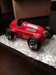 Vintage Schuco Studio 1050 Mercedes German Wind-Up Race Car Red