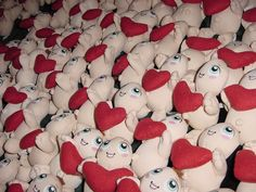 Lots of heart! Characters, Heart, Figurines, Hearts