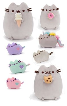"""Pusheen plush toys"" by afleedy ❤ liked on Polyvore"