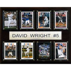 C Collectables MLB 12x15 David Wright New York Mets 8-Card Plaque
