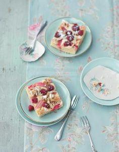 Rhabarber-Kuchen vom Blech