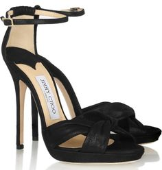 Jimmy Choo Jada shimmer-leather sandals
