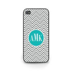 Personalized Monogram Black and White Phone Case