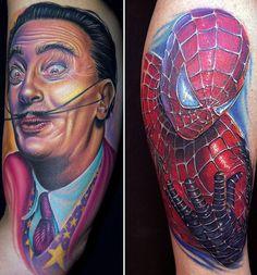 Phenomenal portraits! Dali and spiderman