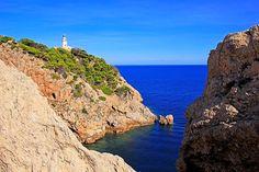 Lighthouse at Cap de Pera near Cala Ratjada, Majorca, Balearic Islands, Spain