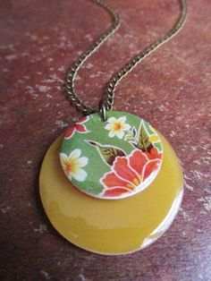 shrink plastic and resin necklace - inspiration to make a better shrinky dink
