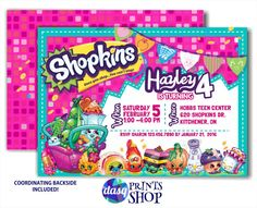 He encontrado este interesante anuncio de Etsy en https://www.etsy.com/es/listing/259152731/shopkins-invitation-shopkins-invite