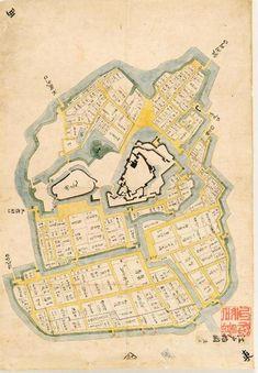 松江歴史館で見つかった、徳川家康が築いた江戸城を描いた最古級の絵図「江戸始図」(同館提供)