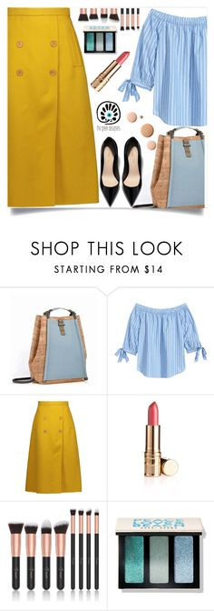 """""""GRECIAN CHIC BACKPACKS"""" by nejra-l ❤ liked on Polyvore featuring Rochas, Bobbi Brown Cosmetics, CC, backpack, thegreekdesigners and greekbackpack"""