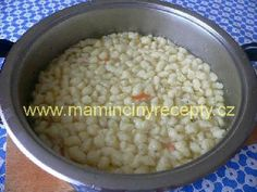 Kapání do polévky Czech Recipes, Beans, Vegetables, Food, Meal, Beans Recipes, Essen, Vegetable Recipes, Hoods