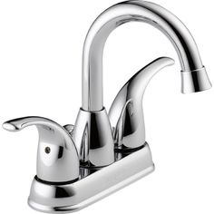 P99694LF Tempo 2-Handle 4-in Centerset Water Sense Bathroom Sink Faucet, Chrome #Peerless