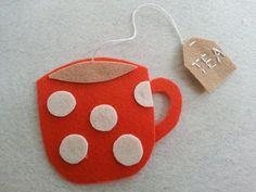 DIY Felt Teacup Bookmark