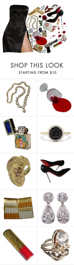 """femme fatale"" by lazy-daisy-baby ❤ liked on Polyvore featuring Zippo, Rock Rebel, Effy Jewelry, Yunus & Eliza, Christian Louboutin, KING, Revolver, Gatsby and Sandra Dini"