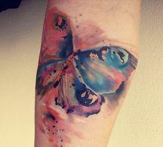 watercolor tattoo butterfly on wrist - Recherche Google