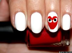 NAIL ART TUTORIAL: COMMES DES GARCONS#Repin By:Pinterest++ for iPad#