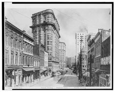 Downtown Atlanta circa 1910. The Healey would be built a block to the left 2 years later.