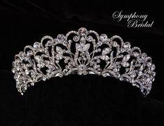 Just gorgeous! Regal Silver Plated Wedding Tiara Symphony Bridal 7707CR - Affordable Elegance Bridal -