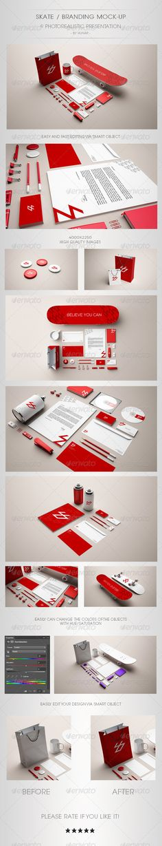 Skate Stationery Branding Mock Up