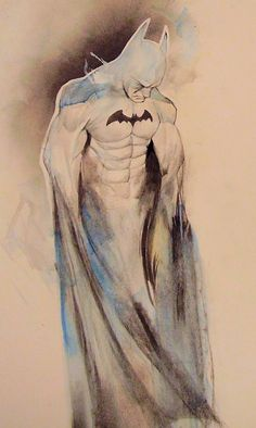 Unfinished Batman picture...Dont know artist but this is Cool!!