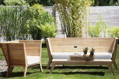 Jan Kurtz William chair, side table and bench Outdoor Lounge, Outdoor Decor, Garden Furniture, Outdoor Furniture Sets, Jardiniere Design, Pergola, Wooden Cottage, Vintage Industrial, Jan Kurtz