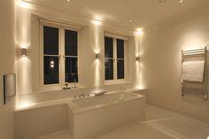 Love this lighting scheme and neutral colours. John Cullen lighting - Pillar Light £113