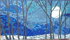 Forest in blue mosaic