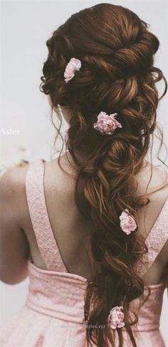 Great favorite wedding hairstyles-for-long hair with pink flowers The post favorite wedding hairstyles-for-long hair with pink flowers… appeared first on Emme's Hairstyles .