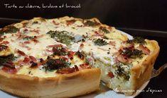 Tarte au chèvre, lardons et brocoli
