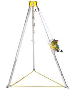 The MSA 10117244 features the Lynx 50 ft. rescuer and Workman tripod. Confined Space, Lynx, Tripod, Safety, Concept, Kit, Fall, Design, Security Guard