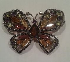 Vintage Butterfly Brooch signed Monet.