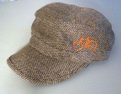 Herringbone bicycle hat