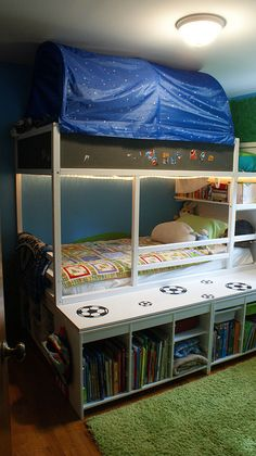 I've been planning on buying this bunk bed once Henry is out of his crib and now I know what I want to do with it! Hooray!
