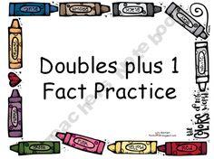 Fun For First: Doubles pLuS 1 Fact Practice PowerPoint I Love Math, Fun Math, Math Activities, Maths, Math Resources, Math Doubles, Doubles Facts, Everyday Mathematics, Math Fact Practice