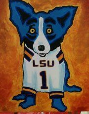 This is priceless. So cool. The Blue Dog is #1 LSU fan.