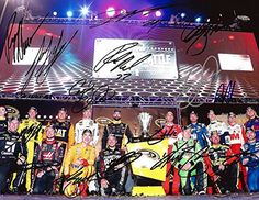 16X AUTOGRAPHED 2015 Chase for the Sprint Cup Playoffs (Group Picture Pose) Richmond Race Victory Lane Signed NASCAR 9X11 Glossy Photo with COA (Signed By All 16 Drivers: Jeff Gordon, Dale Jr, Kyle Busch, Kevin Harvick, Carl Edwards, Brad Keselowski, Joey Logano, Kurt Busch, Denny Hamlin, Matt Kenseth, Ryan Newman, Martin Truex Jr, Clint Bowyer, Jamie McMurray, and Paul Menard!)!) >>> Want to know more, click on the image.