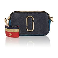 Marc Jacobs Women's Snapshot Crossbody Bag (16.825 RUB) ❤ liked on Polyvore featuring bags, handbags, shoulder bags, blue, crossbody purses, navy handbags, shoulder strap bags, marc jacobs purse and zip shoulder bag