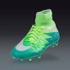 Buy Nike Women's Hypervenom Phantom II FG - RAGE GREEN/GHOST GREEN/HYPER TURQ/WHITE Firm Ground Soccer Cleats on SOCCER.COM. Best Price Guaranteed. Shop for all your soccer equipment and apparel needs.
