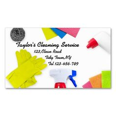 Retro cleaning service gray and red business card cleaning service house cleaning house cleaning business cards templates free wajeb Gallery