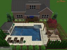 Backyard Pool Landscaping, Backyard Pool Designs, Landscaping Ideas, Swimming Pools Backyard, Swimming Pool Designs, Outdoor Areas, Outdoor Pool, Outdoor Retreat, Dream Pools