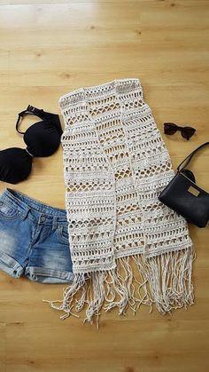 Ravelry: Boho vest pattern by Frisian Knitting One Skein Crochet, Crochet Vest Pattern, Crochet Coat, Crochet Jacket, Crochet Cardigan, Crochet Shawl, Crochet Clothes, Crochet Hooks, Crochet Patterns
