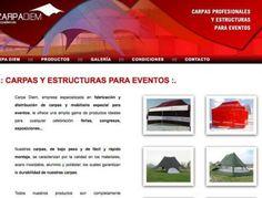 Diseño Garabato - Carpa Diem fabricación de carpas. http://www.carpadiem.es/ #web #Huesca