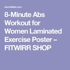 8-Minute Abs Workout for Women Laminated Exercise Poster – FITWIRR SHOP