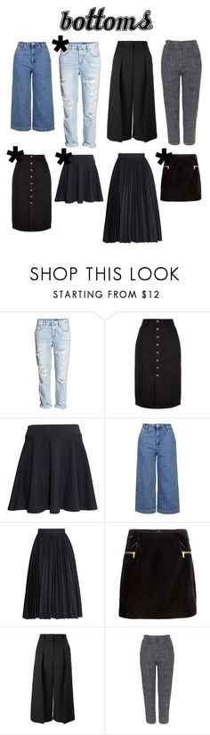 """""""bottoms"""" by little-miki ❤ liked on Polyvore featuring New Look, H&M, Topshop, MSGM, Erdem, Minimalist, minimalism and minimalwardrobe"""