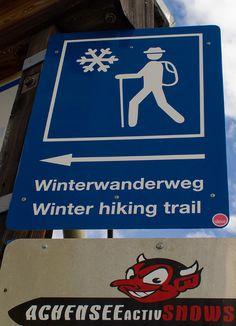 Winter hiking trail.