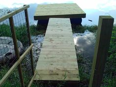 build a floating dock for the pond!