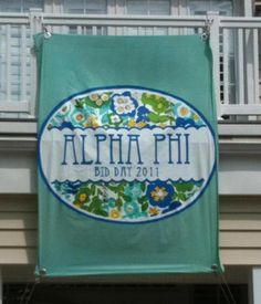 alpha phi banner sugar.
