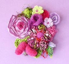 Spille con fiori in tessuto stampato fantasia e non