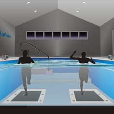 All functions of this HydroWorx therapy pool can be computer monitored and recorded.