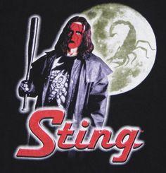 Vtg-90s-STING-T-Shirt-XL-Black-WCW-WWF-WWE-NWO-Wolf-Pack-Icon-Wrestling-Hogan